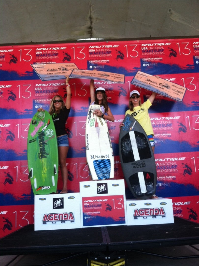 Womens Pro Surf: team Rider Stacia takes home another 3rd place on the brand new Phase 5 Surfboard.