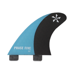 Phase Five Carbon Surf Twin Fin Set Blue