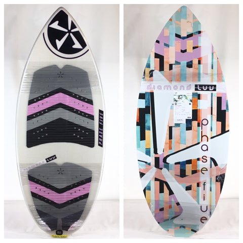 Phase Five One Off Special Edition Diamond Luv Wake Skimboard 51""