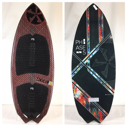 "Phase Five Special Edition Model X Wake Skimboard 58"" One Off + Custom"