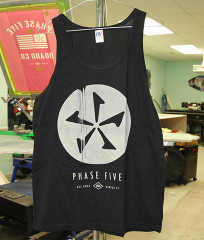 Phase Five Dribble Tank Black