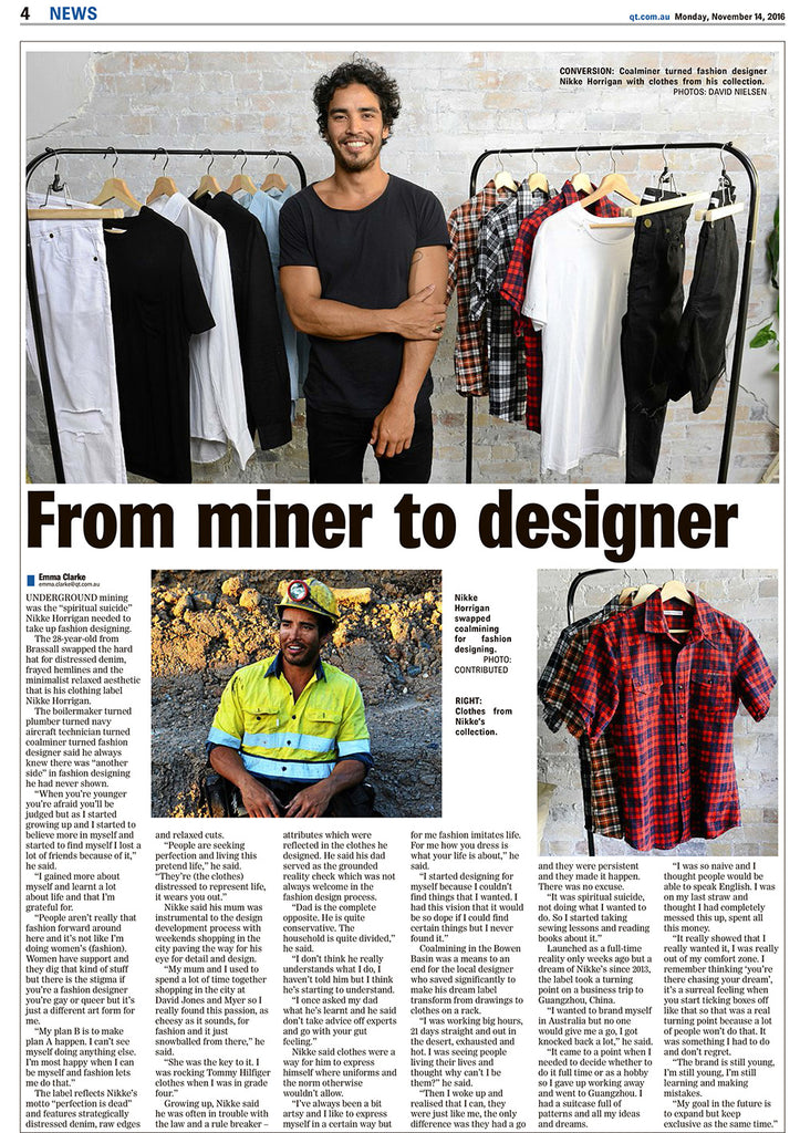 coalminer turned fashion designer