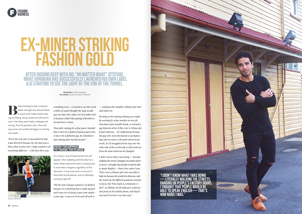 ex miner striking fashion gold