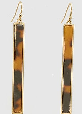Acetate Rectangle Shape Earrings
