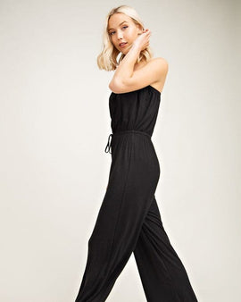STRAPLESS TUBE TOP SOLID JUMPSUIT
