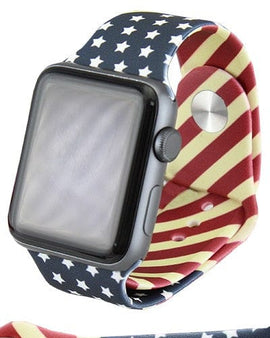 American Flag Watch Band
