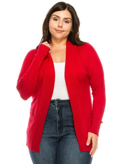 Open Cardigan  Plus Size