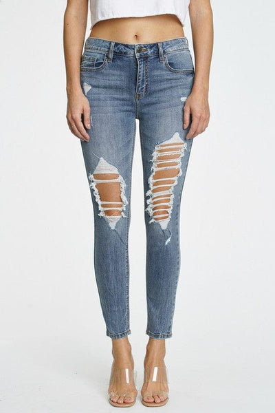 Clara high rise skinny crop in Abundance
