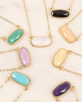Gemstone Chain Short Necklace