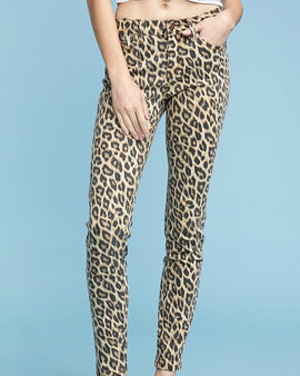 Leopard Skinny with Stretch