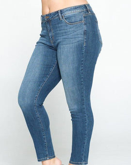 Mica mid rise skinny plus size jeans