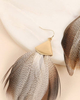 Feather Dangling Earrings