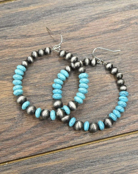 Big & Light!  Beaded Hoop Earrings