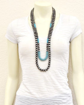 "34"" Long, Beaded Necklace"