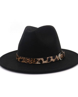 Leopard band panama hat