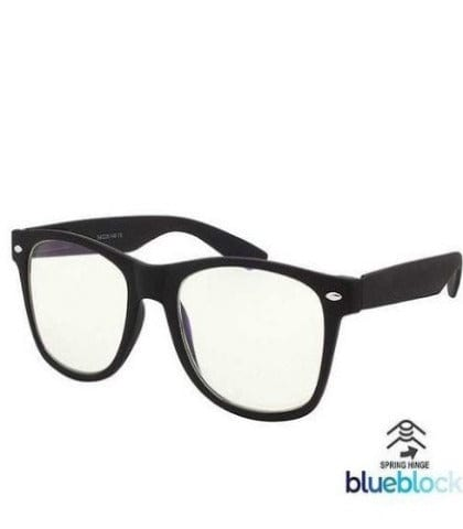 Blue light block acrylic spring hinge glasses