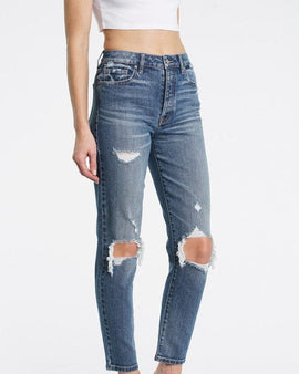 Tobi super high rise mom jean ankle in dystopian MD