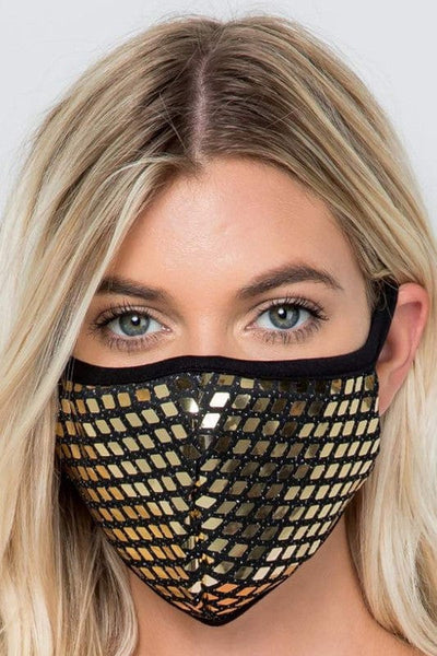 Sequin Accent Washable Mask