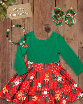 Christmas printed dress