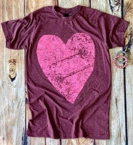 Distressed  heart  valentine