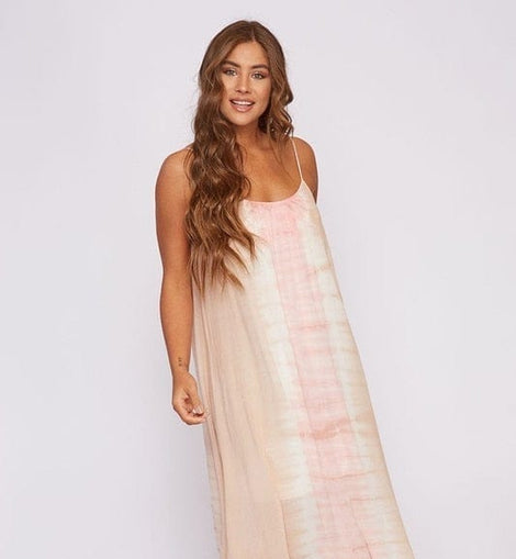 Long Peach love  dress