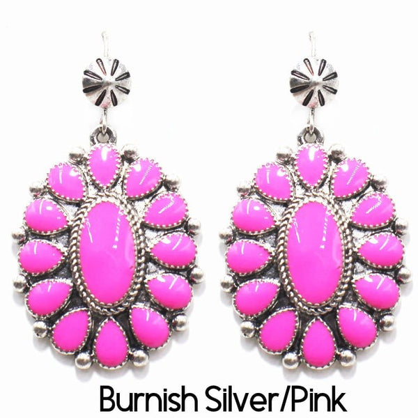 Burnish Earring Silver/Pink