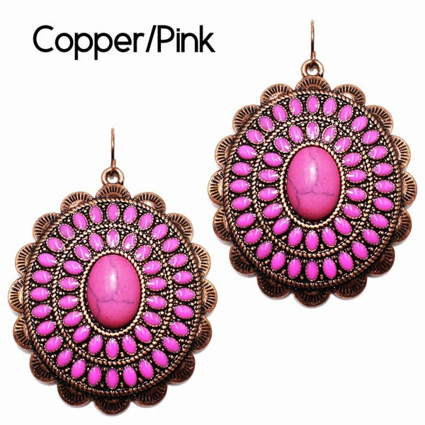 Concho Earring COPPER PINK