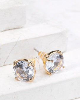 Cubic Zirconia Post Earrings
