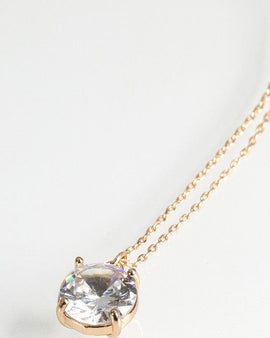 Cubic Zirconia Pendant Short Necklace