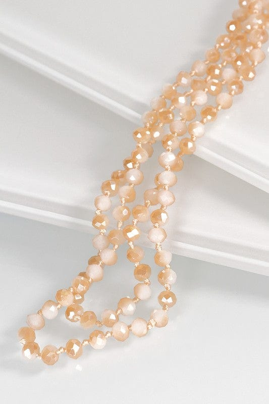 Stunning 6MM Beaded Long Necklace