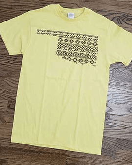 AZTEC OKLAHOMA MAP T-SHIRT