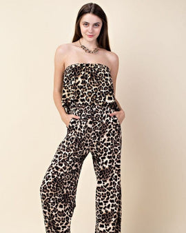 Animal Print  Long jumpsuit