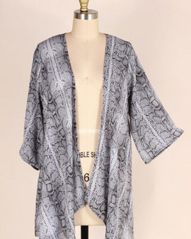 LOOSE FIT SNAKE WOVEN CARDIGAN