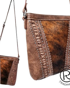 COWHIDE DARK BROWN PURSE