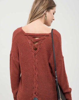 Back Detail Knit Top