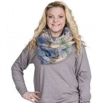 Simply Southern Infinity Scarf Blue Green