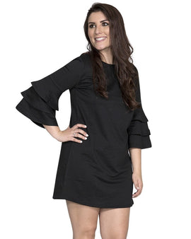 Ruffle Tiered Bell Sleeve Winston Dress
