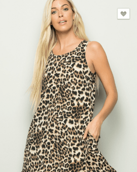 Animal Print Swing Dress