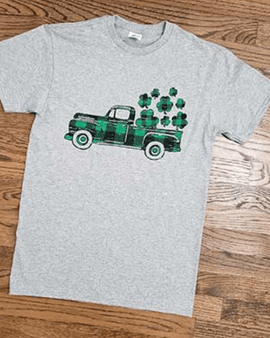 St. Patty Heart Truck Tshirt