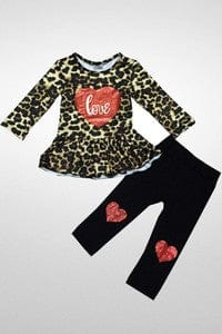 Girl's Leopard Love Set