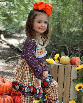 Girl's Fall Leaves Set