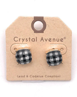 Cushion Post Buffalo Plaid Earrings