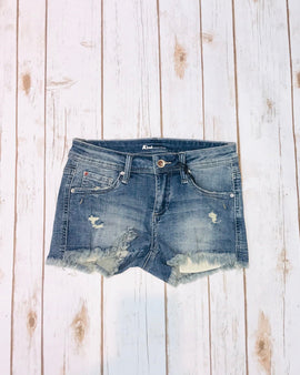 Distressed Medium Wash Shorts