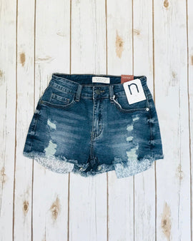High Rise Shorts With Pocket Detail