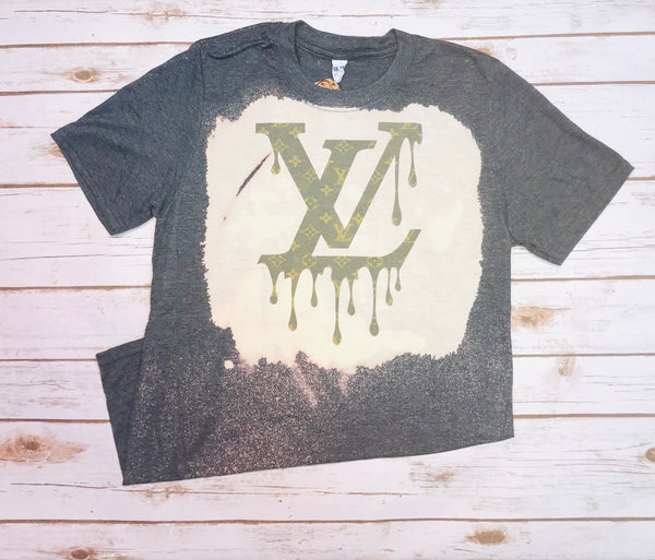 Dripping Louis Vuitton Logo Tee