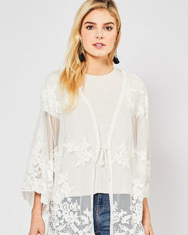 Lace cardigan Regular Size