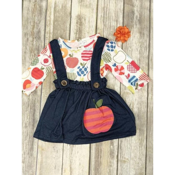 CUTE SCHOOL 2 PC SET W OVERALL SKIRT
