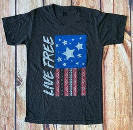 LIVE FREE SUPER SOFT VNECK T-SHIRT