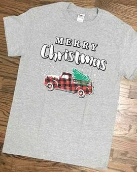CHRISTMAS TRUCK - PLAID