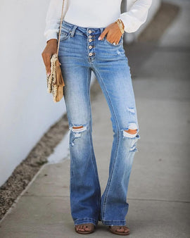 Micro flared jeans